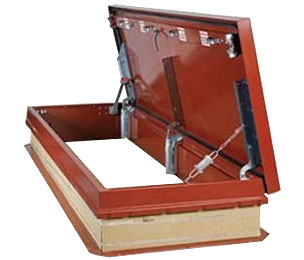 Galvanized steel roof hatches